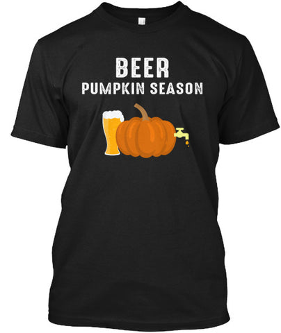 Beer Pumpkin Season Glass of Beer Tshirt - lkrseller, Men's Shirts ,