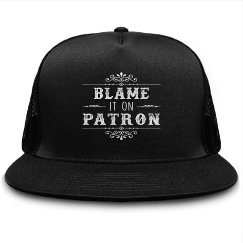 Blame It On Patron Tequila Drinking Hat - lkrseller, Hat ,