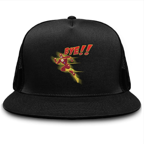 Bye!! Flash Running Super Hero Red Suit Hat - lkrseller, Hat ,