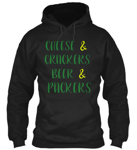 Cheese & Crackers Beer & Football Shirt - lkrseller, Hoodies ,