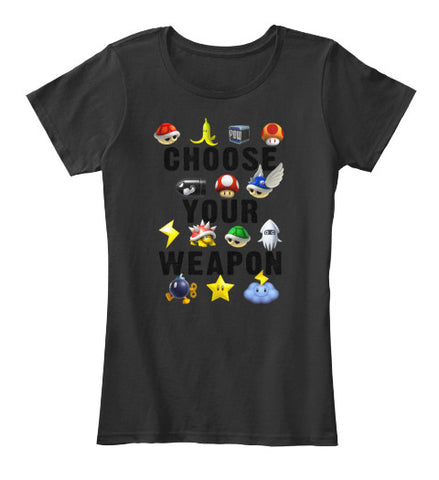 Choose Your Weapon Video Game T-Shirt - lkrseller, Women's Shirts ,