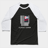 Classic Gamer Mario Brothers Cartridge Video Games Baseball Long Sleeve T-Shirt - lkrseller, Long Sleeve Tee ,