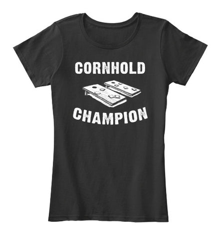 Cornhold Champion Tailgate Funny T-Shirt - lkrseller, Women's Shirts ,