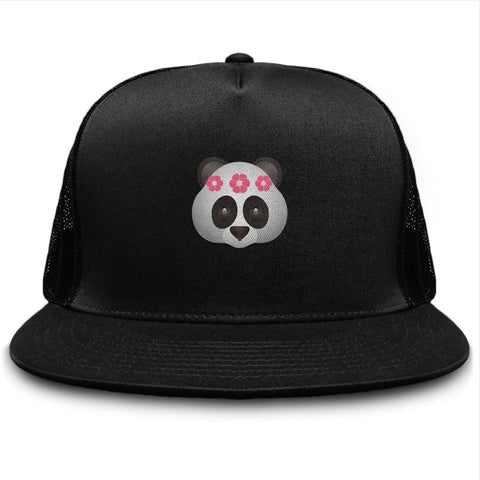 Crown Flower Panda Bear Cute Filter Trucker Hat - lkrseller, Hat ,