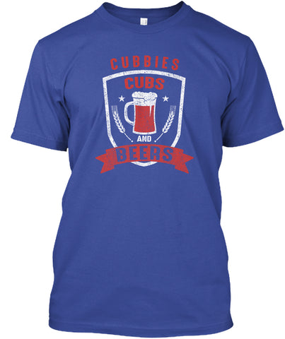 Cubbies And Beers Chi Baseball T-Shirt - lkrseller, Men's T-Shirts ,