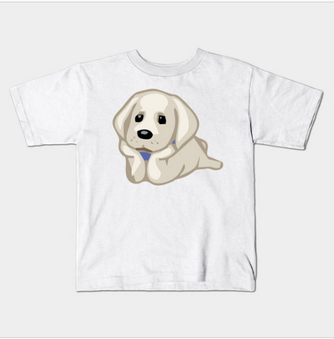 Cute Dog Relaxing Laying Down Pet Lovers Kids Juvenile T-Shirt (Ages 4-7) - lkrseller, Kids T-Shirt ,