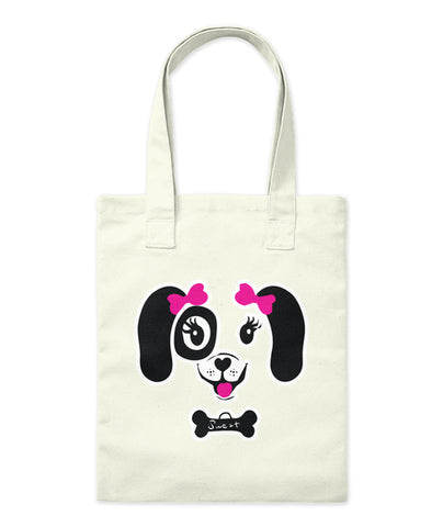 Cute Puppy Bone Bows Dog Lover Tote Bag - lkrseller, Tote Bag ,