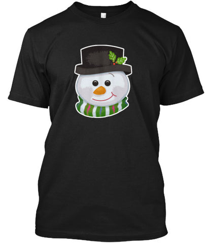 Cute Snowman Christmas Hat T-Shirt - lkrseller, Men's Shirts ,