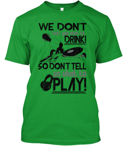 "DJ T-Shirt ""Dont tell us want to Play"" M - lkrseller, Men's Shirts ,"