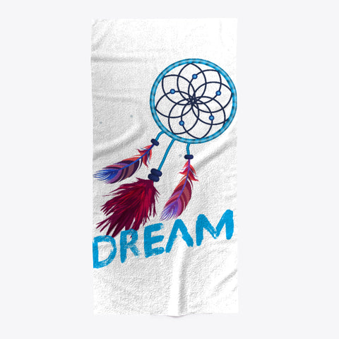 Dream Catcher Feathers Beach Towel - lkrseller shirts Towel, t-shirts, hoodies, tank tops, custom