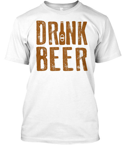 Drink Beer Bottle Humor Party Tee Shirt - lkrseller, Men's Shirts ,