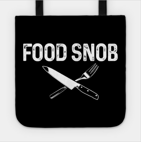 Food Snob Knife And Fork Foodie Tote Bag - lkrseller shirts Tote Bag, t-shirts, hoodies, tank tops, custom
