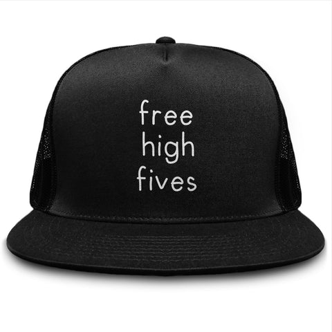 Free High Fives Funny Snapback Trucker Hat - lkrseller shirts Hat, t-shirts, hoodies, tank tops, custom
