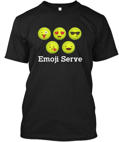 Funny Emoji Serve Tennis Ball T-Shirt - lkrseller, Men's Shirts ,