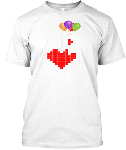 Game Over Vintage Tetris Lover Heart T-Shirt - lkrseller, Shirt / Hoodie ,