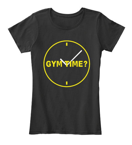 Gym Time Clock Workout Fitness T-Shirt - lkrseller, Women's Shirts ,
