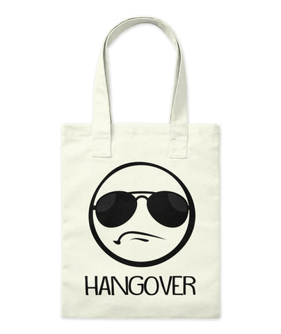 Hangover Frowning Emoji Face Funny Tote Bag - lkrseller shirts Tote Bag, t-shirts, hoodies, tank tops, custom