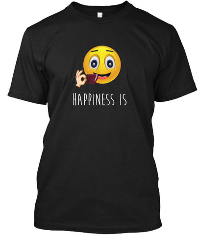 Happiness Is Coffee Emoji Mug T-Shirt - lkrseller shirts Men's Shirts, t-shirts, hoodies, tank tops, custom