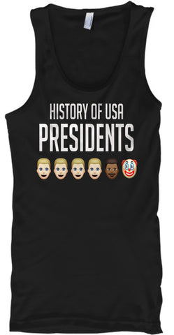 History Of USA Presidents Funny Clown - lkrseller, Tank Tops ,