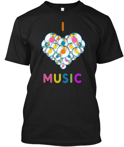 I Heart Shape Love Music Awesome T-Shirt - lkrseller shirts Men's Shirts, t-shirts, hoodies, tank tops, custom