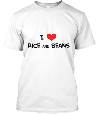 I Love Heart Rice And Beans T-Shirt - lkrseller, Men's Shirts ,