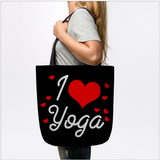 I Love Heart Yoga Workout Fitness Pose Stretch Tote Bag - lkrseller shirts Tote Bag, t-shirts, hoodies, tank tops, custom