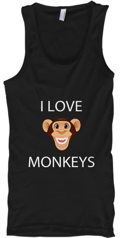 I Love Monkeys Funny Emoji Cute - lkrseller shirts Tank Tops, t-shirts, hoodies, tank tops, custom
