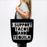 I Support Tacos and Tequila Tote Bag - lkrseller shirts Tote Bag, t-shirts, hoodies, tank tops, custom