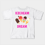 Ice Cream Dream Foodie Food Sundae Kids Youth T-Shirt - lkrseller, Kids T-Shirt ,
