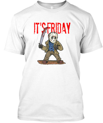 It's Friday Scary Funny Character Mask T-Shirt - lkrseller, Shirt / Hoodie ,