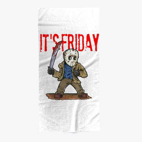 It's Friday TGIF Funny Horror Mask Towel - lkrseller shirts Towel, t-shirts, hoodies, tank tops, custom