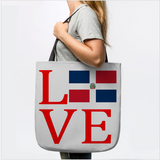 Love Dominican DR Flag Heart Tote Bag