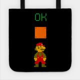Mario OK Power Up Coin Video Games Tote Bag - lkrseller, Tote Bag ,