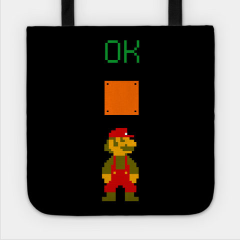 Mario OK Power Up Coin Video Games Tote Bag - lkrseller shirts Tote Bag, t-shirts, hoodies, tank tops, custom