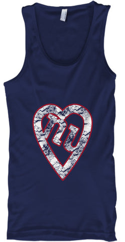 NY Football Heart Gmen Big Blue - lkrseller, Tank Tops ,