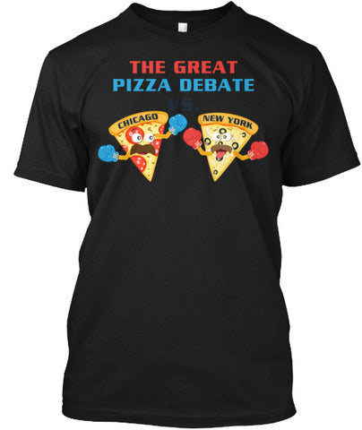 Pizza Debate Slice Deep Dish Tee Shirt - lkrseller, Men's Shirts ,
