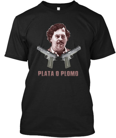 Plata O Plomo Pablo Escobar Guns T-Shirt - lkrseller, Men's Shirts ,