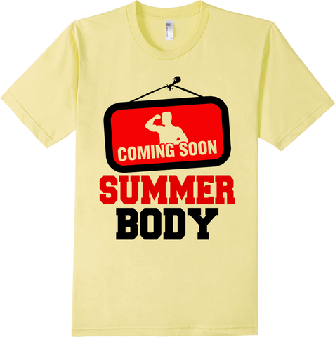 Summer Body Coming Soon Workout Exercise Get Fit T-Shirt - lkrseller, Men's Shirts ,