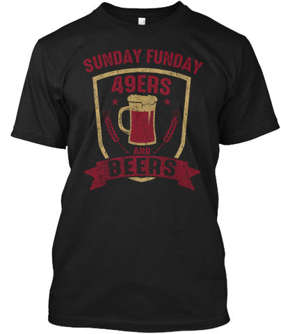 Sunday Funday Football and Beers Tee SF - lkrseller, Men's Shirts ,