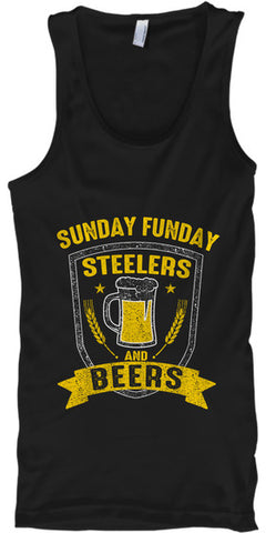 Sunday Funday Pittsburgh Football Beers - lkrseller, Tank Tops ,