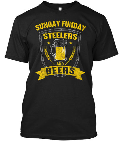 Sunday Funday Pittsburgh Football Beers - lkrseller, Men's Shirts ,