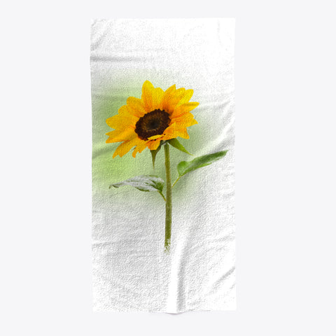 Sunflower Blooming Beach Pool Towel - lkrseller shirts Towel, t-shirts, hoodies, tank tops, custom