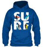 Surf Surfboard Waves Beach T-Shirt - lkrseller, Hoodies ,