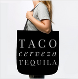 Taco Cerveza Tequila Mexico Drinking Cinco De Mayo Tote Bag - lkrseller shirts Tote Bag, t-shirts, hoodies, tank tops, custom