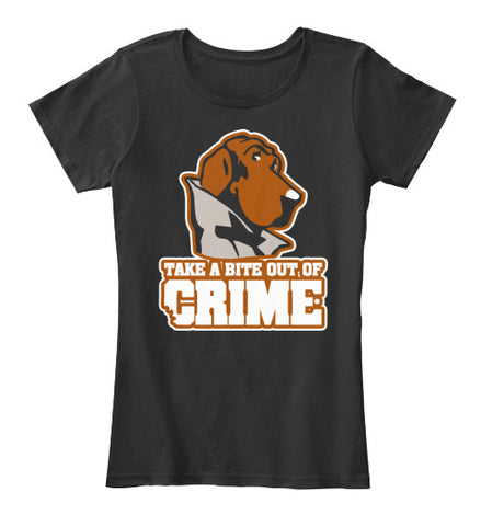 Take A Bite Out Of Crime Dog Tee Shirt - lkrseller, Women's Shirts ,