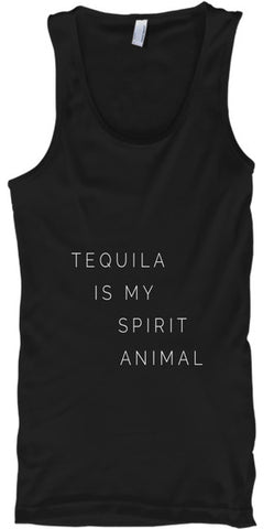 Tequila Is My Spirit Animal Funny - lkrseller, Tank Tops ,