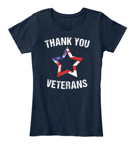 Thank You Veterans Stars and Strips Tee - lkrseller, Women's Shirts ,