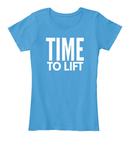 Time To Lift Workout Fitness Weights Tee - lkrseller, Women's Shirts ,