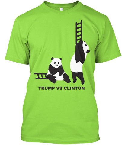 Trump Vs Clinton Panda Ladders T-Shirt - lkrseller shirts Men's Shirts, t-shirts, hoodies, tank tops, custom