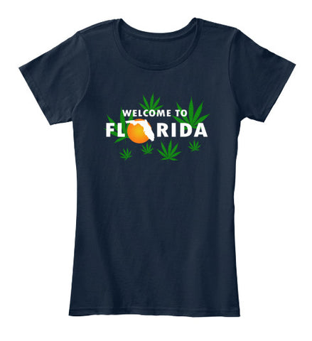 Welcome To Florida Weed Cannabis Tee - lkrseller, Women's Shirts ,